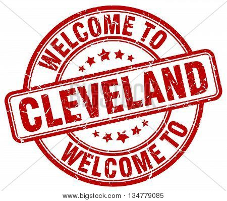 welcome to Cleveland stamp. welcome to Cleveland.