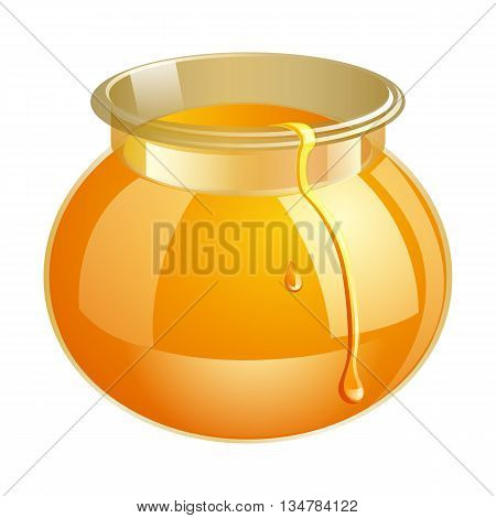 Honey Bank Vector Illustrations. Apiary Vector Symbol. Bee, Honey, Honey Bank, Honeycomb. Honey Natu