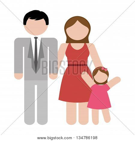 Avatar of Family design about couple and daughter  illustration, flat and isolted design