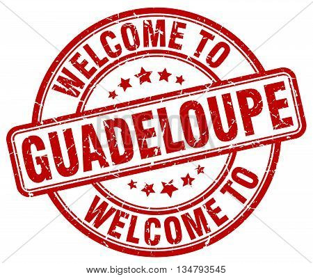welcome to Guadeloupe stamp. welcome to Guadeloupe.