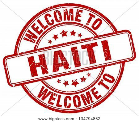 welcome to Haiti stamp. welcome to Haiti.