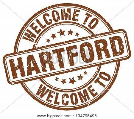 welcome to Hartford stamp. welcome to Hartford.