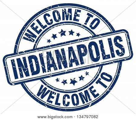 welcome to Indianapolis stamp. welcome to Indianapolis.