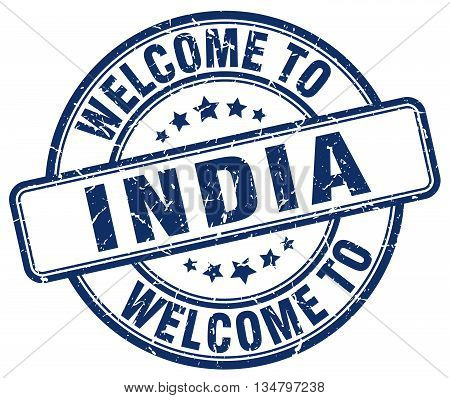 welcome to India stamp. welcome to India.