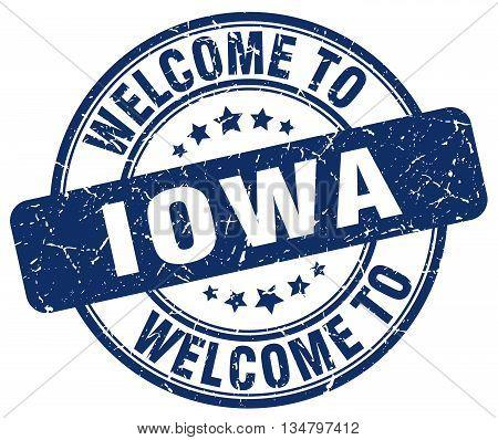 welcome to Iowa stamp. welcome to Iowa.
