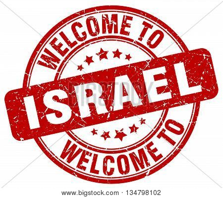 welcome to Israel stamp. welcome to Israel.