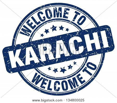 welcome to Karachi stamp. welcome to Karachi.