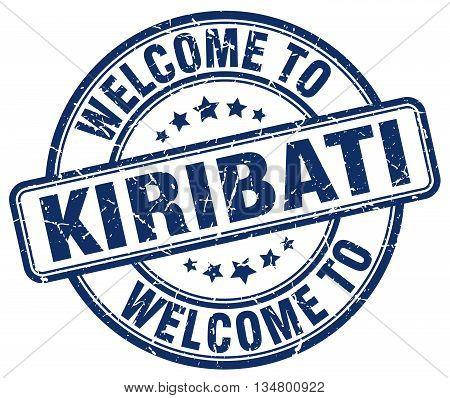welcome to Kiribati stamp. welcome to Kiribati.