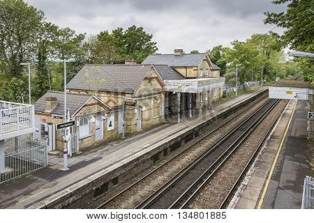 HARRIETSHAM, KENT, UK, 19 MAY 2016 - Train station in the village of Harrietsham Kent UK