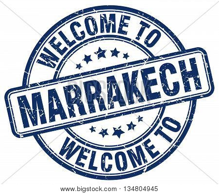 welcome to Marrakech stamp. welcome to Marrakech.