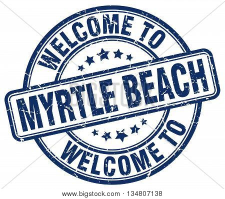 welcome to Myrtle Beach stamp. welcome to Myrtle Beach.