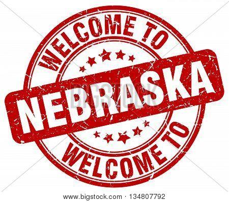 welcome to Nebraska stamp. welcome to Nebraska.