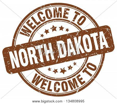 welcome to North Dakota stamp. welcome to North Dakota.