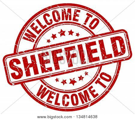 welcome to Sheffield stamp. welcome to Sheffield.