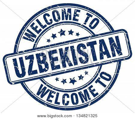 welcome to Uzbekistan stamp. welcome to Uzbekistan.