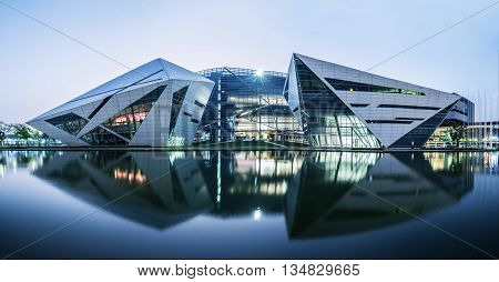 Bangkok , Thailand - February 22, 2016: BU Diamond Building of Bangkok University (Rangsit College). It is the symbol of creativity. Also a place where photographers like to take picture of.