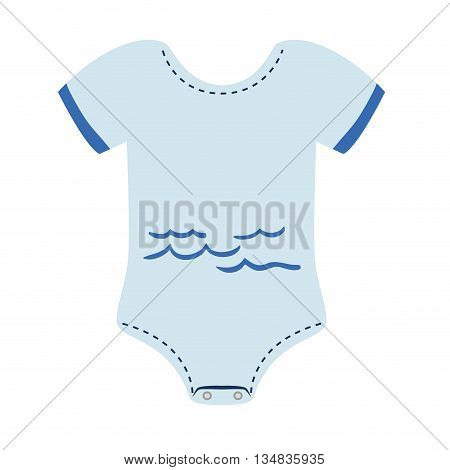 Baby clothes represented by pijama  icon over flat and isolated background