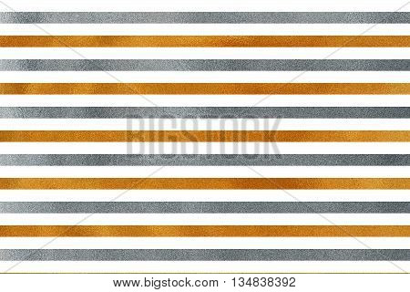 Golden And Silver Striped Background.