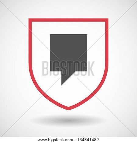Isolated Line Art Shield Icon With A Tooltip