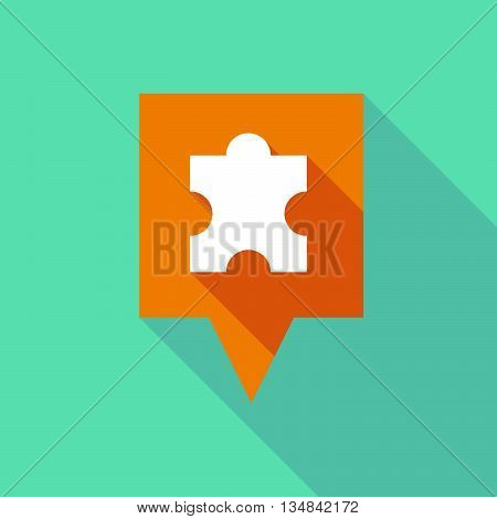 Long Tooltip Icon With A Puzzle Piece