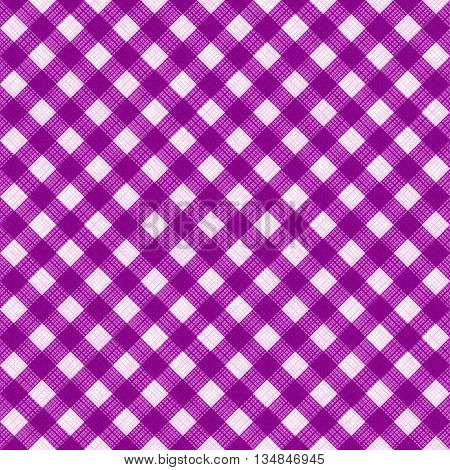 Seamless (you see 4 tiles) purple colors diagonal gingham background