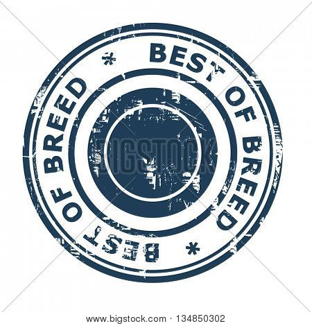 Best of Breed business concept rubber stamp isolated on a white background.