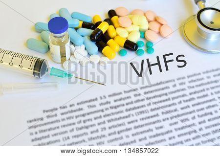 Drugs for hemorrhagic fever treatment, blur text