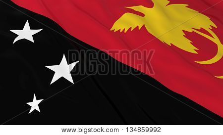 Papuan Flag Hd Background - Flag Of Papua New Guinea 3D Illustration