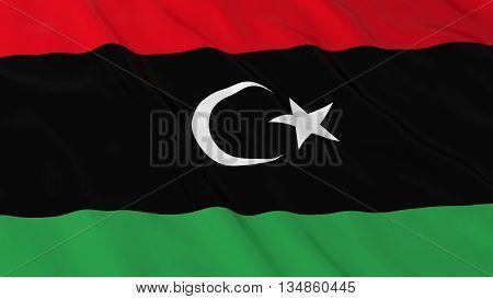 Libyan Flag Hd Background - Flag Of Libya 3D Illustration