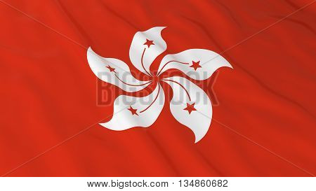 Hong Kongese Flag Hd Background - Flag Of Hong Kong 3D Illustration