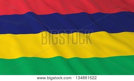 Mauritian Flag Hd Background - Flag Of Mauritius 3D Illustration