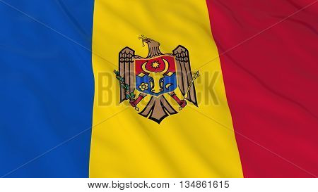 Moldovan Flag Hd Background - Flag Of Moldova 3D Illustration