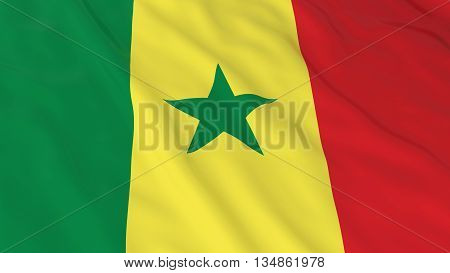 Senegalese Flag Hd Background - Flag Of Senegal 3D Illustration
