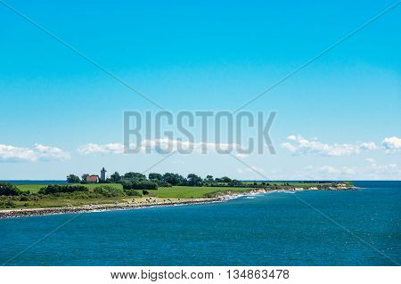 Headland on the Baltic Sea coast in Gedser (Denmark).
