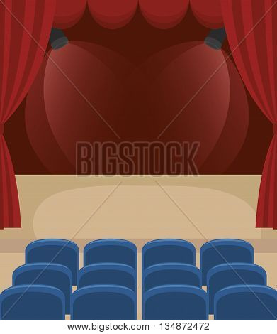 stagecraft concept design, vector illustration eps10 graphic