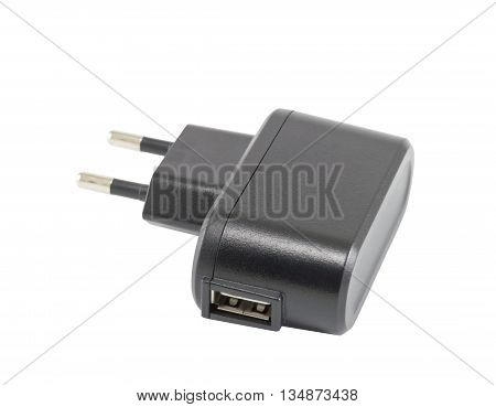 AC adapter for charging the phone on a white background
