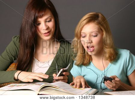 Sisters Studying