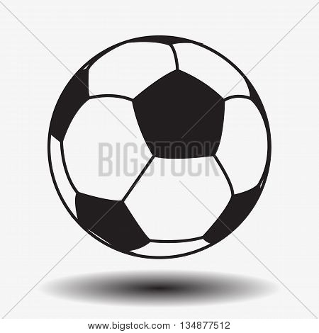 Football. Soccer. Leather soccer ball isolated on white background. Soccer ball. Football ball. Leather ball. Vector. EPS10