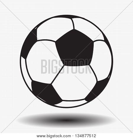 Football. Soccer. Leather soccer ball isolated on white background. Soccer ball. Football ball. Leather ball. Vector. EPS10