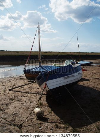 Abstract Beach Boat Scene Norfolk East Anglia England