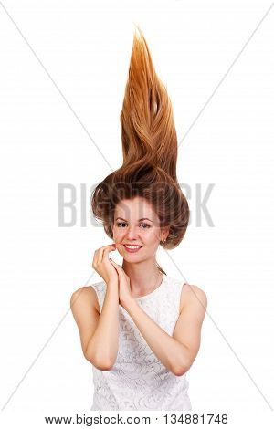 Young Beautiful Women With Hair Up