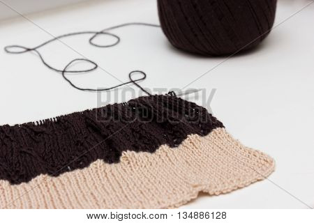 Knitted Cloth On Neutral Background