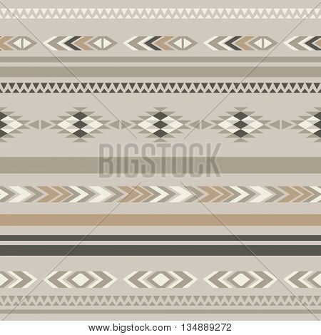 Seamless ethnic folk ornamental pattern . Vector background .