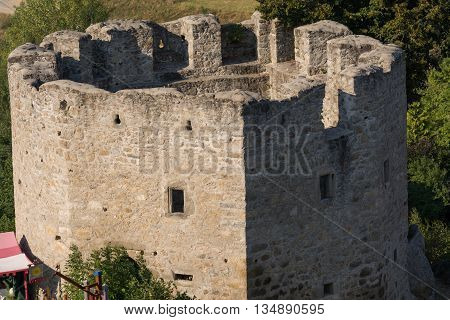 Tower of the remarkable ruins Waxenberg - Austria