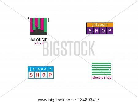 Creative development jalousie store trend logos series
