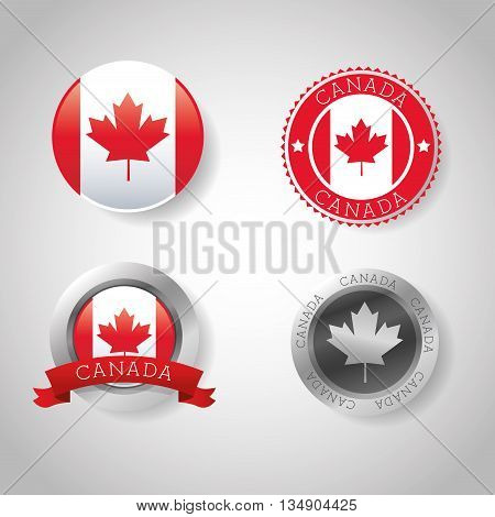 Canadas country represented by his flag of maple leaf