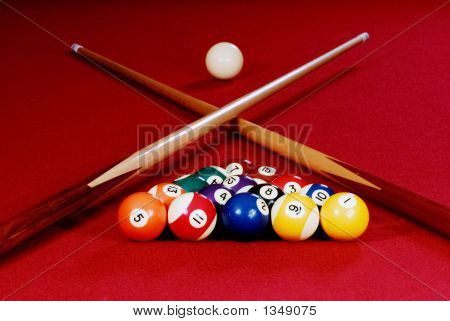 Red Pool Table 1