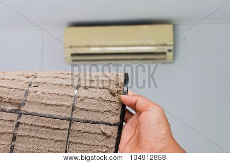 Dust vent air conditioner air conditioner background