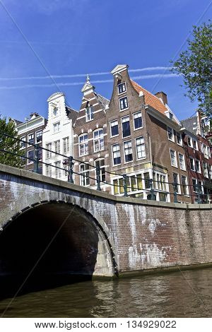 City Scene of Amsterdam architecture in Netherlands, Europe