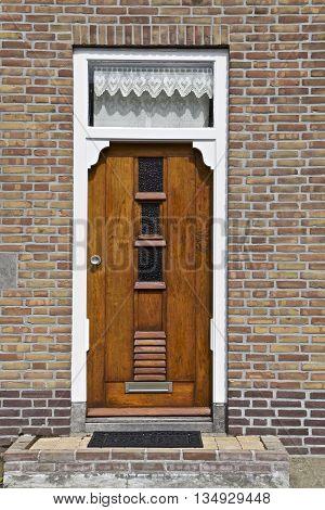 Wooden door part of a home Netherlands Europe